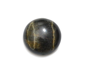 South African Blue Tigers Eye Loose Gemstone Round Cabochon 1A Quality 10mm TGW 2.70 cts.