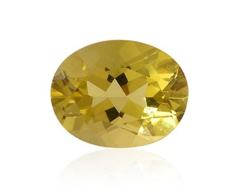 Green Gold Quartz Triplet Oval Cut Loose Gemstone 1A Quality 9x7mm TGW 1.60 cts.
