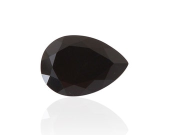Black Onyx Pear Cut Faceted Loose Gemstone 1A Quality 10x7mm 1.30 cts.