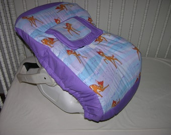 New Infant Seat Carrier Cover m/w Bambi Fabric