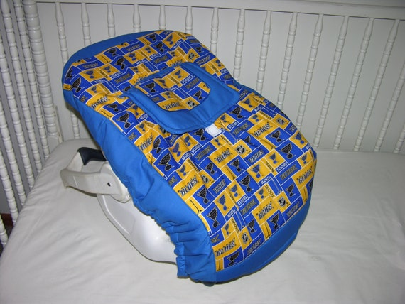New Infant Seat Cover m w St Louis Blues Fabric