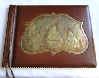Leather and Copper Photo Album by Artist Janis Pontaks, Latvia
