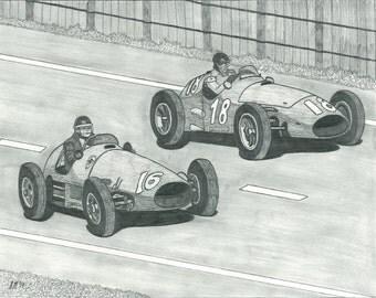 Hawthorn v. Fangio - Rivalry Series Part 1 Print