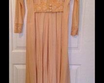Vintage Keylon Dressing Robe Golden  Yellow Velour Feel