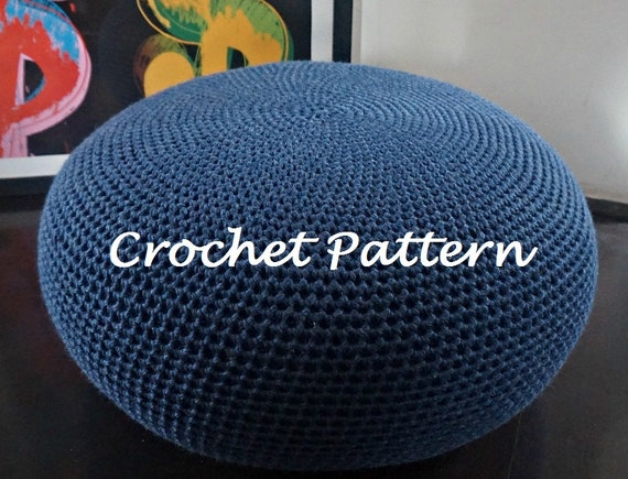 Crochet Pattern Diy Tutorial Large Crochet Pouf Poof By