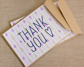 Gocco thank you card with envelope