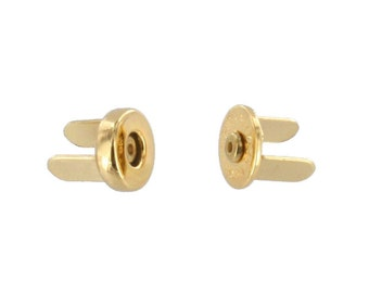 Magnetic Snap, 10mm Diameter, Gold Plated, 4.4 lbs (2.0 kg) Strength