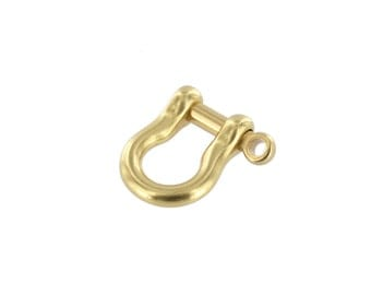 B7485 Natural Brass, Shackle w/ Screw Pin, Solid Brass-LL