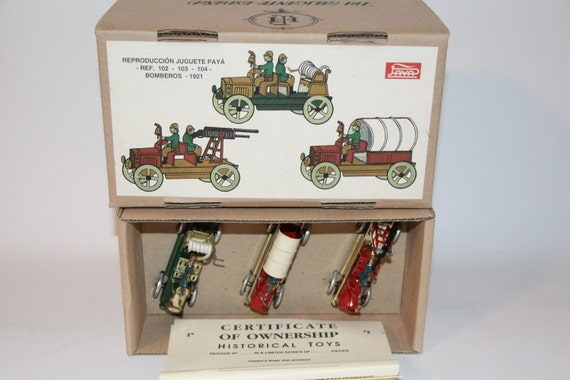 Paya No 102 103 104 Fire Trucks Limited Edition Replica Box Certificate NICE