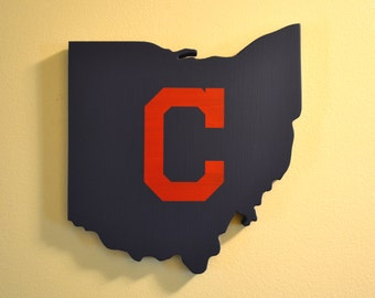 Cleveland Indians Wall Art (Blue with Red C)