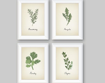 Kitchen Decor - Kitchen Art. Herbs Art Print. Herb Art. Herbs Decor. Herbs Kitchen Art Print. Kitchen Wall Art. Wall Decor (NS-722)