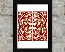 Unique Medieval Tiles Related Items Etsy