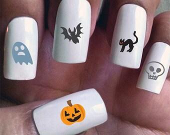 Happy Halloween! - Water Slide Nail Decals