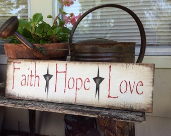 Faith Hope Love pallet wood sign