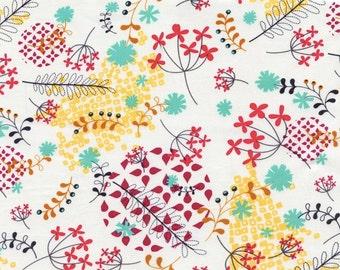 Rashida Coleman Hale Washi Floral fabric cream 1/2 yard OOP