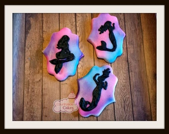 Mermaid  Decorated Sugar Cookies  -1 dozen
