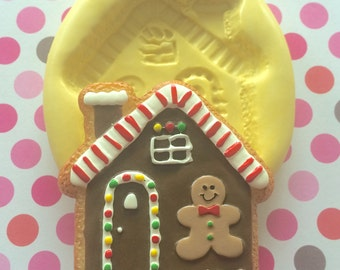 Large Big GINGERBREAD House Silicone MOLD - Candy Mold, Craft Supply, Gingerbread House Mold, Cake Decoration, Christmas Mold, Gingerbread