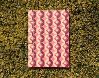 Japanese Bound A6 Notebook 'Coraline' geometric pattern – 20 pages