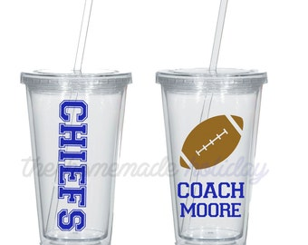 Football coach tumbler, coaches gift, football coach gift