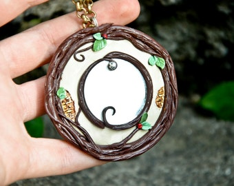 Amulet protection mirror, wishing well, dimensional door wall