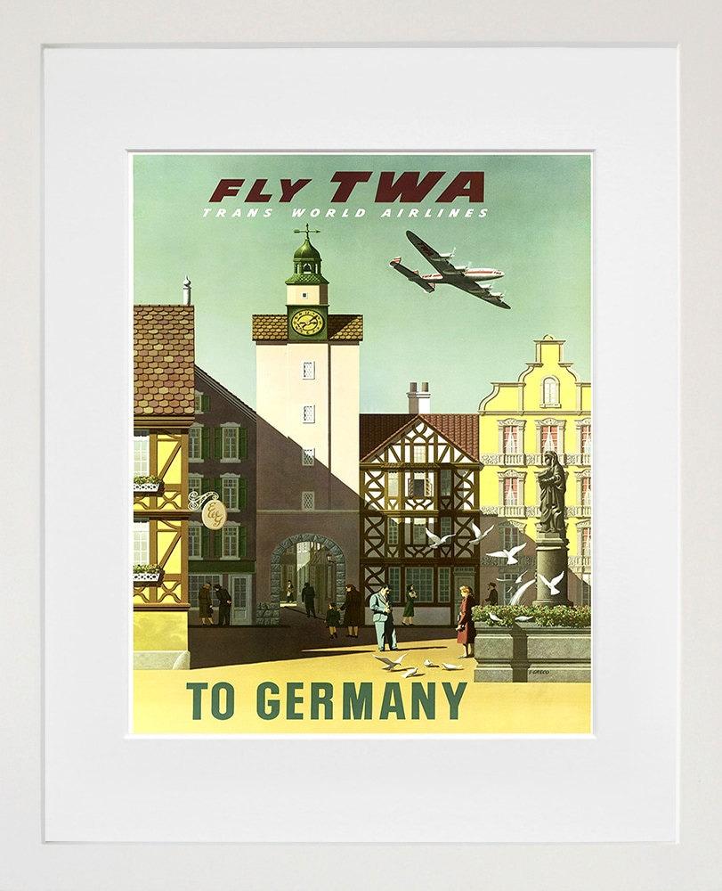 Travel Poster Germany Art Print Vintage German Home Decor