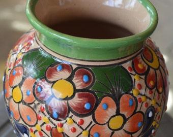 Talavera flower vase