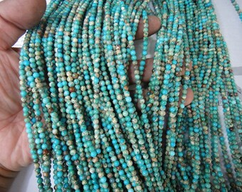 "4mm light blue impression jasper round beads, 16"" strand long"