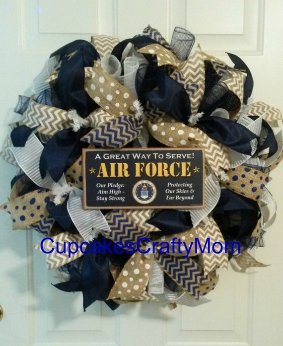 Us air force wreath us air force deco mesh wreath air force for Air deco
