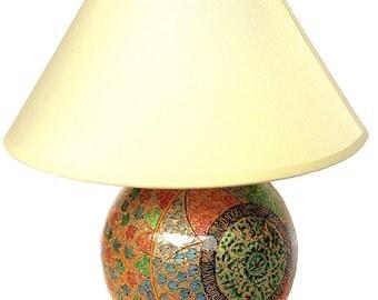 Papier Mache Lamp
