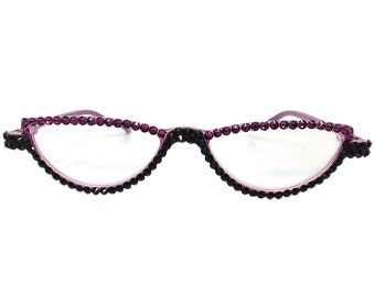Two Toned - Purple (Reading Glasses with Crystal Rhinestones)