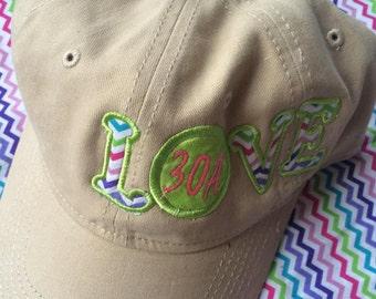Love Appliqued Hat