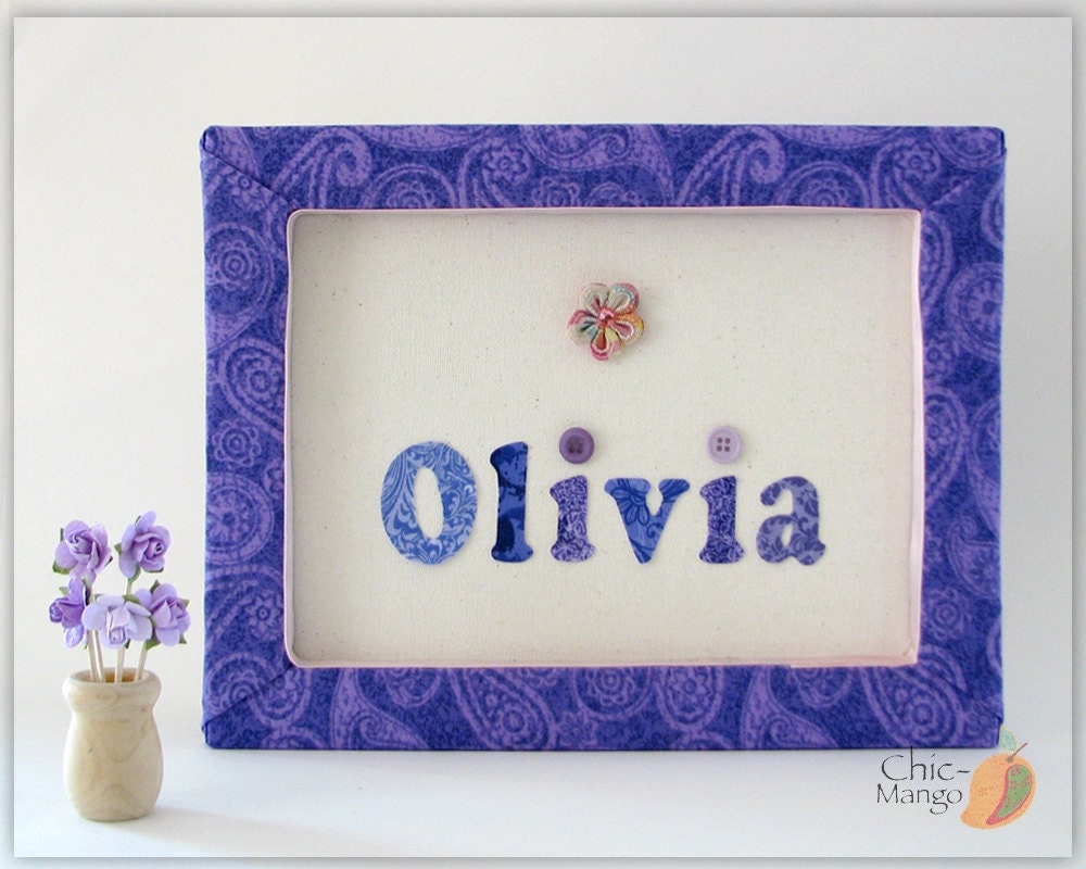 Personalized wall art for kids purple room decor for girl for Personalized kids room decor