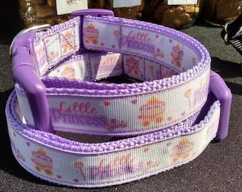 "Little Princess 1"" Width Adjustable Dog Collar"