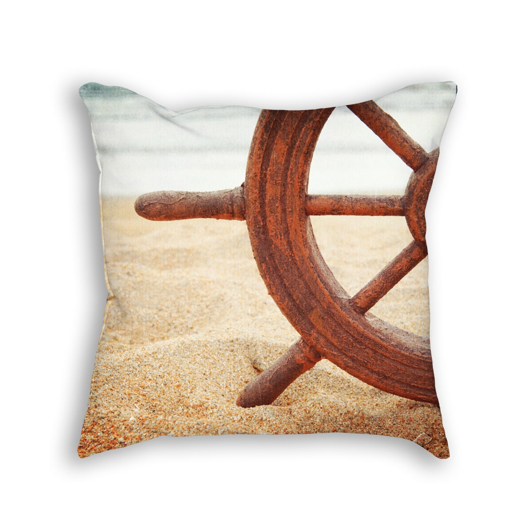 Nautical pillow. Throw pillow nautical by HomeDecorativeDesign