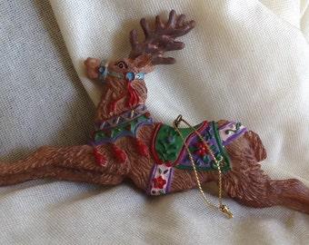 Colorful Reindeer Christmas Ornament