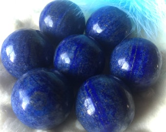 Lapis Lazuli Sphere, Use in Chakra or Reiki work, Crystal Grid, Use while Meditating, Scrying, Divination!