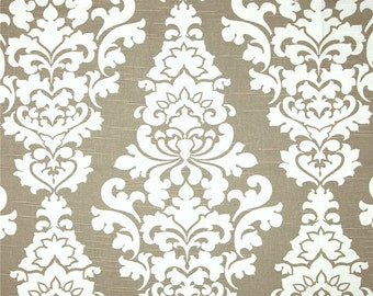 Contemporary Floral Fabric Neutral Fabric by the Yard Taupe Drapery Fabric Upholstery Fabric Taupe Tan Designer Home Decor Fabric G141