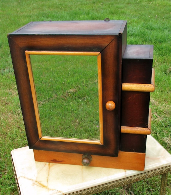 Deco Bathroom Mirror: Vintage Art Deco Medicine Wall Bathroom Cabinet Mirror