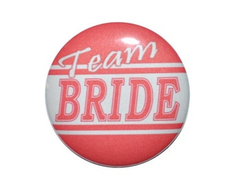 Football groom football bride team bride team groom wedding party bridal party 2 1/4 inch pin back buttons