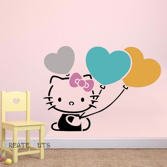 Hello Kitty Reusable Stencil For Kids Room Nursery By