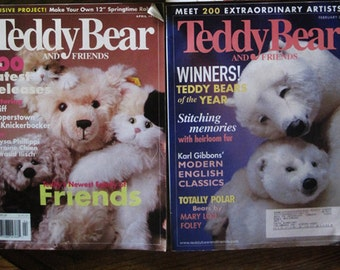 2 TEDDY BEAR and FRIENDS Magazines 2001
