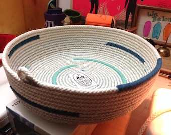 "Large Cotton Cord Basket ""Made to Order"""