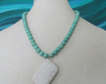 Turquoise and Riverstone Necklace
