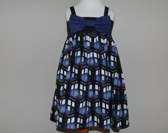 Dr. Who Inspired Tardis Bow Tie Dress