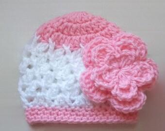 Crochet baby hat, newborn girl hat, baby girl beanie, baby girl hat, newborn girl outfit, girl newborn hat, crochet newborn hat