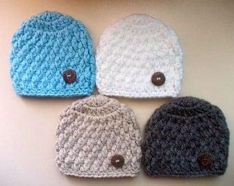 Baby boy hat Baby hat Newborn boy hat Crochet baby hat Hospital hat boy Newborn outfits Crochet newborn hats Crochet boy hats