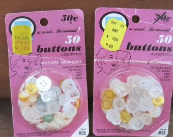 vintage dyno buttons two packs 50 buttons each made in usa