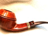 """un-smoked Stanwell large """"Rhodesian"""" with brass ring, saddle mouthpiece. Smoking Briar Tobacco estate pipe"""