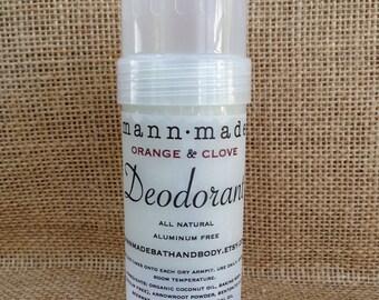Orange & Clove Deodorant - All Natural, Aluminum Free, Detox, 2oz
