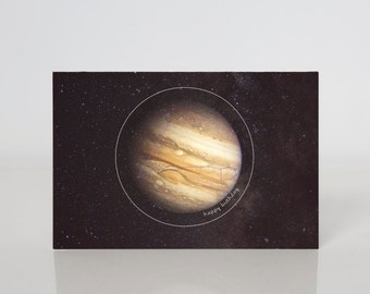 Pisces- Constellation + Planetary Birthday Card
